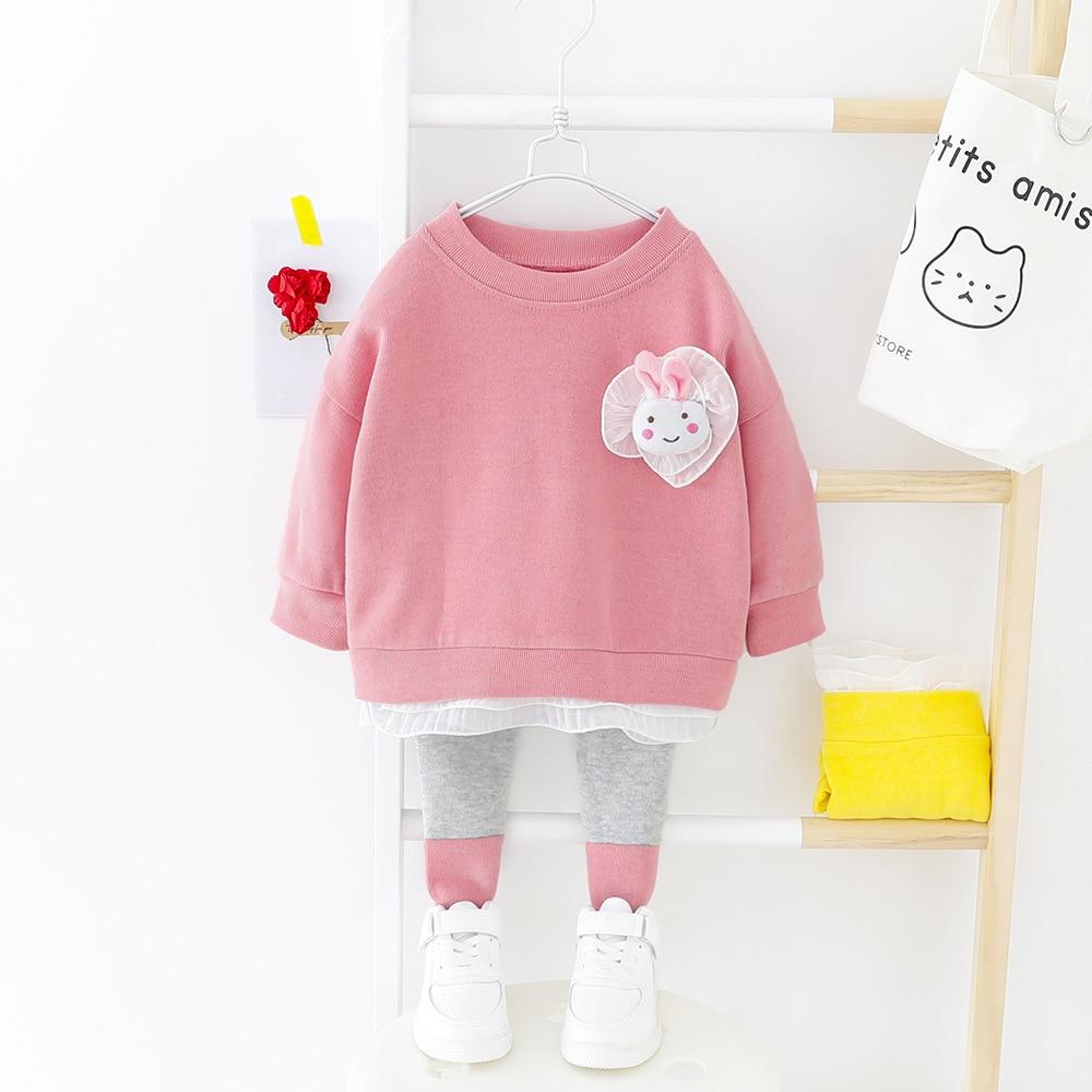 Весенние комплекты одежды для маленьких девочек, милые наряды для младенцев с длинным рукавом, Одежда для новорожденных, повседневный спор...