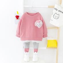 Wiosenne zestawy ubrań dla niemowląt śliczne stroje dla niemowląt z długim rękawem noworodki ubrania Casual Sport garnitur dla dzieci maluch odzież dla niemowląt tanie tanio Moda COTTON Poliester Czesankowej REGULAR O-neck Dziecko dziewczyny Płaszcz Cotton+Polyester Pasuje prawda na wymiar weź swój normalny rozmiar