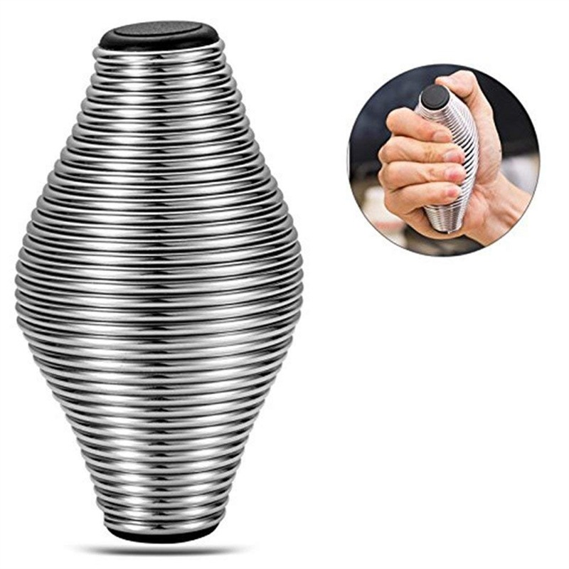 Stress Reliver Antistress Toy For Kids Adults Stress Relief Sports Hand Grip Spring Grips Finger Exercise Metal Grip Toys
