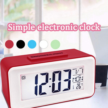 Talking Clock Speaking Time and Temperature Home Thermometer Digital Desk Table Snooze Alarm Clock Kid Children Wake Up image