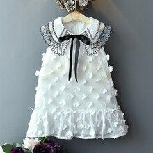 1pcs Cute Princess Dress Girls Summer Flower Print Sleeveless Childrens Clothes