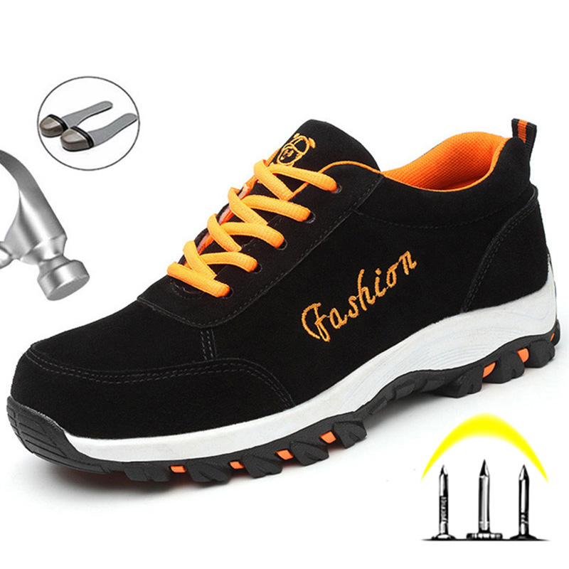 Dropshipping Male Work Safety Boot Steel Toe Safety Shoes Anti-puncture Indestructible Shoes Men Boots Work Sneakers Men Shoes
