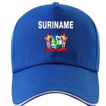 SURINAME chapeau bricolage gratuit personnalisé nom numéro sr casquette nation drapeau néerlandais sranan sarnam sur pays impression photo texte rouge casquette de baseball