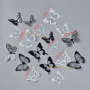Image 5 - 36pcs 3D Crystal Butterfly Wall Stickers Creative Butterflies with Diamond Home Decor Kids Room Decoration Art Wall Decals