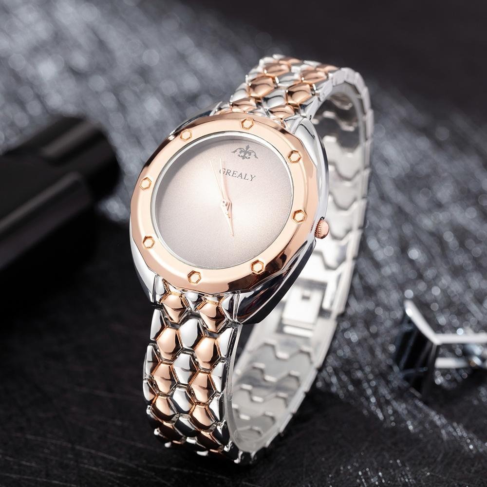 Women's Quartz-watches Simple Fashion Steel Round Watch Dial Alloy With Watch Box For Gift 2019 New Designer Top Hot Clcok