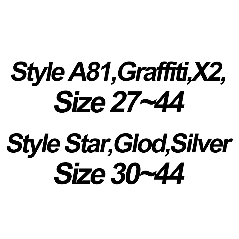 Style A81 X2 Graffiti Size 27-44