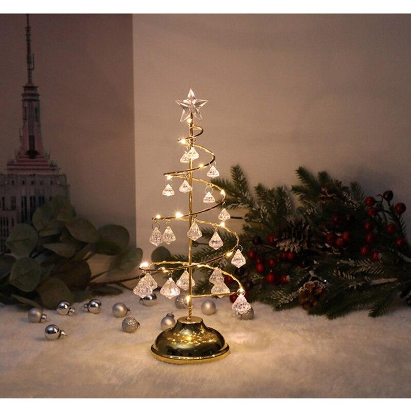 da árvore de natal quarto lâmpada mesa