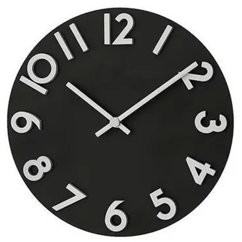 Hot Fashion White Black Quartz Clock For Bedroom Hotel For Digital Clock Wall Clock Office Livingroom Home Decoration