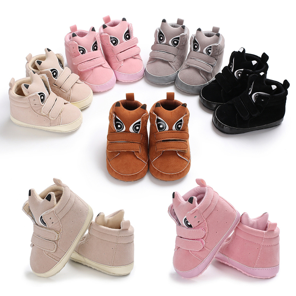 Toddlet Baby Shoes Boy Girl Sneaker Fox Head Cotton Anti-slip Soft Sole Light Newborn Infant First Walkers Crib Shoes