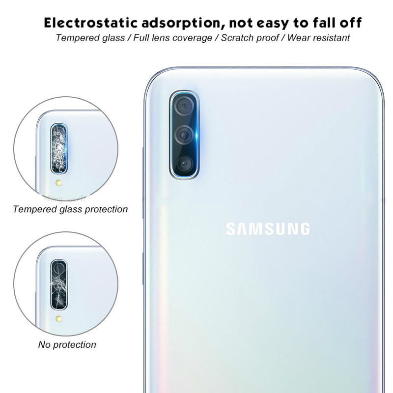 2pcs Film on Protective Glass camera lens for samsung J4 J4plus J6 J6plus 2018 2 5D screen protector A10 A20 A30 A40 A50 S10plus in Phone Screen Protectors from Cellphones Telecommunications