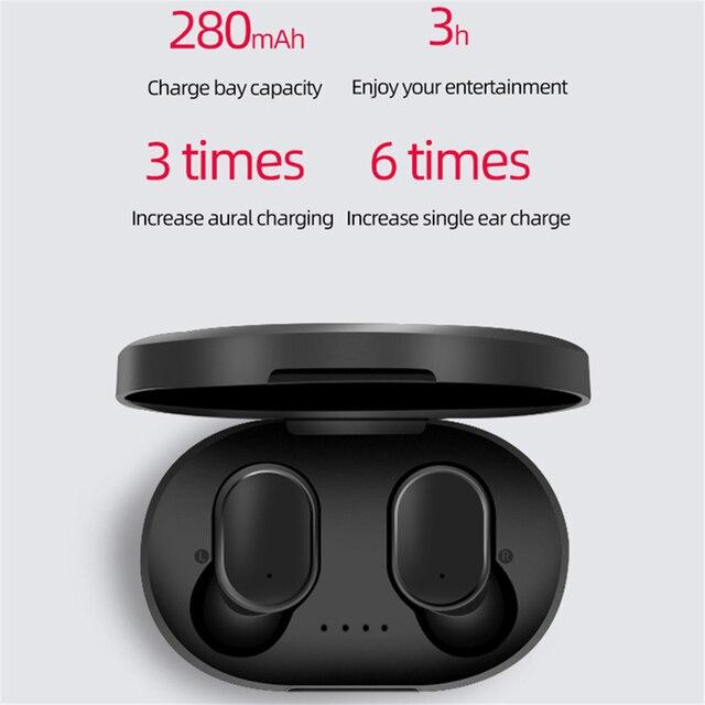 Écouteurs Bluetooth A6S pour écouteurs sans fil Xiaomi Airdots 5.0 TWS écouteurs anti-bruit pour Redmi iPhone Huawei Samsung