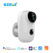 Tuya Battery IP Camera Smart Life App 100% Wire-Free Outdoor IP65 6400mAh Low Power Consumption Battery Camera Cloud Recording