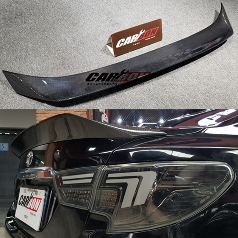 for Toyota Mark X REIZ spoiler 2010 11 <font><b>12</b></font> <font><b>13</b></font> 14 15 16 17 year glossy carbon fiber rear wing K style Accessories image