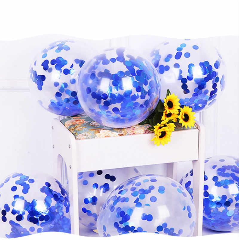 1 szt. Niebieskie cekiny zabawka piłka kolorowa piłka miękka piłka oceaniczna zabawne dziecko dziecko zabawka swim pit basen z wodą fala oceaniczna