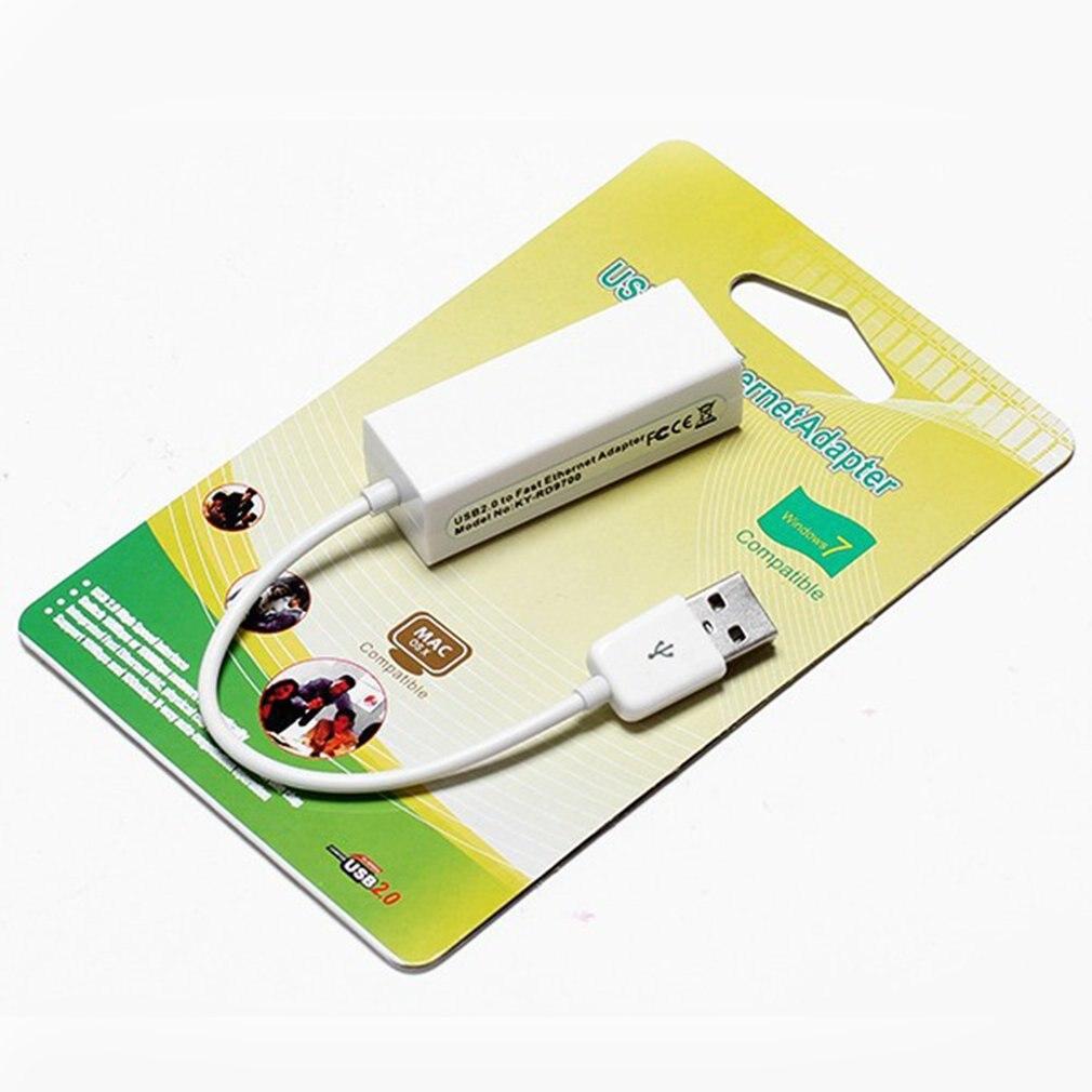 USB 2.0 Ethernet Adapter 10/100Mbps USB To RJ45 Lan Network Card USB Network Card Network Converters