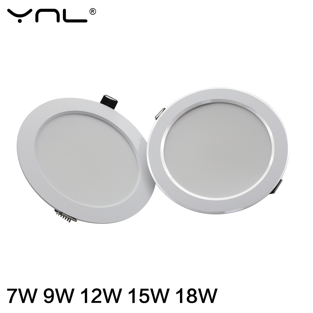 7W 9W 12W 15W 18W Spot LED Downlight AC 220V 240V Waterproof Warm White Cold White Kitchen Round Recessed Lamp LED Spot Lighting