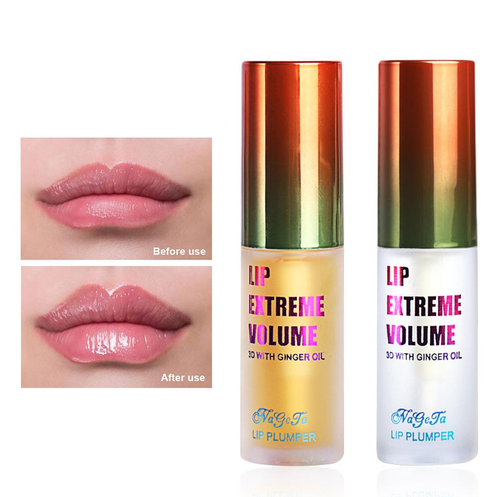 Lip Plumping Balm Plumper Device Lipstick Treatment - Clear Lip Plump Gloss - Enhancer For Fuller & Hydrated Lips Moisturize