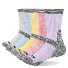 YUEDGE Funny Cute  High School Girls Cotton Loose Striped Crew Socks Colorful Women Sox Designer Retro