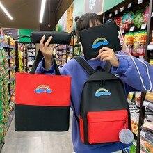 4 Piece Set School Bag For Teenage Girls Women Backpack Large Capacity Bagpack Mochilas Shoulder Bags