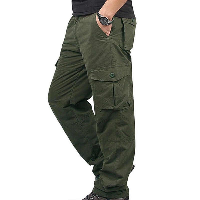 Men Winter Warm Thermal Trouser Tacticals Casual Fitness Cargo Combat Work Pants