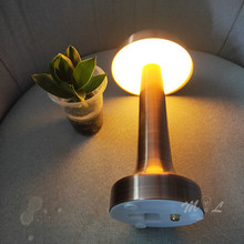 Touch Sensor Table Lamps Modern Led Bar Restaurant Simple Table Lamp Metal Desk Lamp Dimmable Art Deco Chargeable Beside Lamp(China)