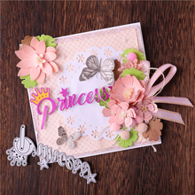 Eastshape Princess Letter Metal Cutting Dies with Crown Star Scrapbooking for Making Cards Decorative Embossing Crafts Stencil