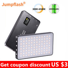 Jumpflash 6500K Mini LED Video Fill Light With 96PCS LEDs Cold Shoe Mount For Camera Phone Selfie Vlog Photography Lighting