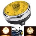 7 дюймов 35 Вт универсальная фара для мотоцикла желтый Кристальное стекло прозрачный объектив Луч Круглый светодиодный налобный фонарь для ...
