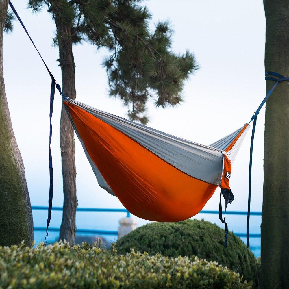 DannyKarl Nylon Hammock Tree Straps Portable Parachute Bedroom Furniture for Backpacking Travel Camping Hammock with Hammock