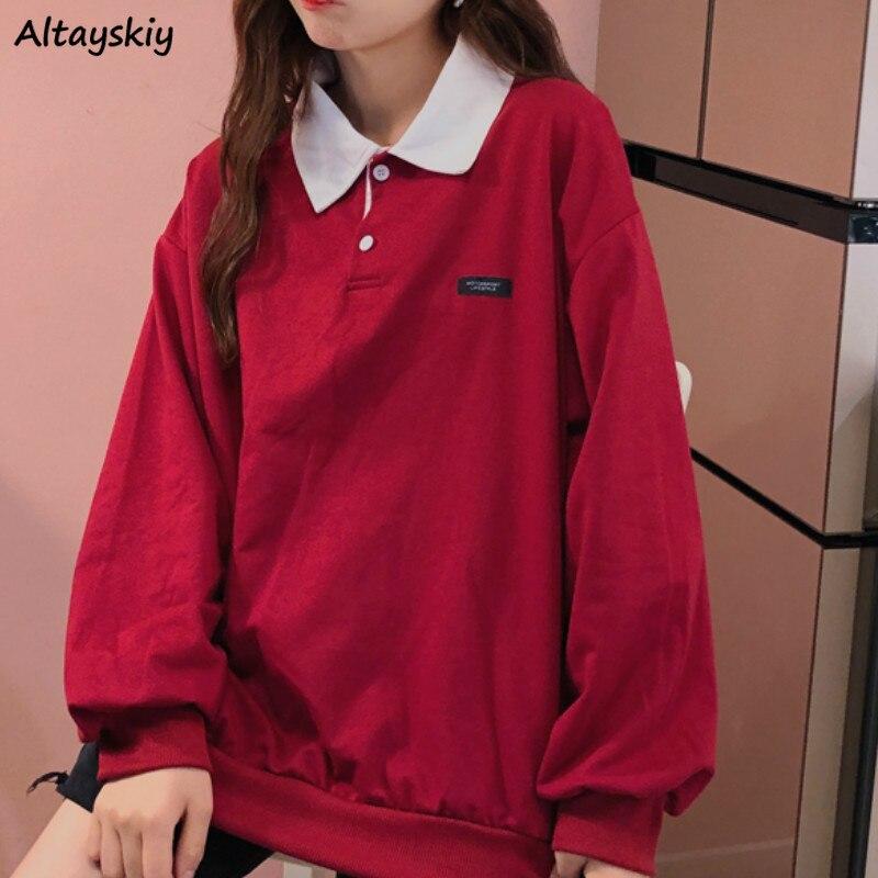 Женские толстовки с принтом, свободные пуловеры с длинными рукавами, свитера в Корейском стиле, BF Ulzzang, модная уличная одежда, женские винтажные удобные толстовки|Толстовки и свитшоты|   | АлиЭкспресс