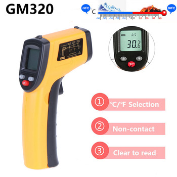 Digital LCD Non-contact IR Infrared Thermometer Laser Pyrometer Surface Temperature Meter Tester Handheld Backlight Thermometer gm900 non contact lcd ir infrared thermometer digital temperature meter 50 to 900 degree pyrometer surface temperature test