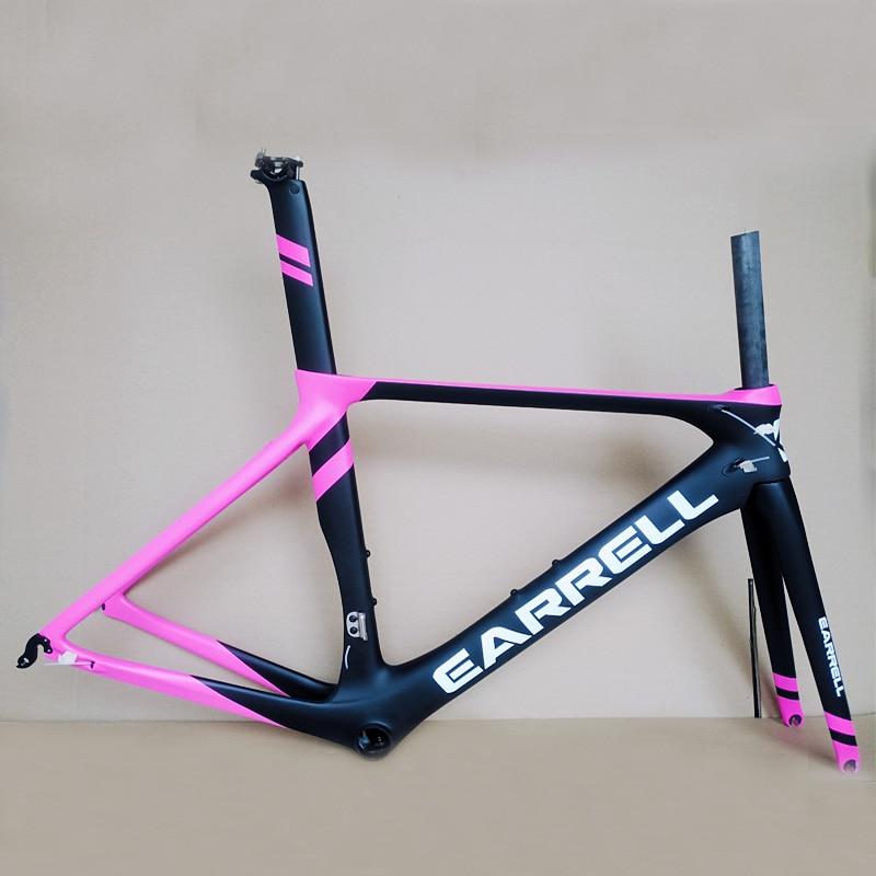 Last 700C Carbon Road Bike Frame UD BSA Bicycle Carbon Frame Road Di2 And Mechanism 50 53 56cm Frameset 1-1/8
