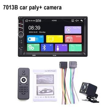 Car 7 Inch 2 Din Touch Screen Multi-media MP5 Player Stereo FM Radio Bluetooth WIN-CE Steering Wheel Control Camera MP5 Player