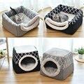 Мягкая Лежанка для домашних животных, кровать для кошек и собак, домик-домик, спальный мешок, подстилка, зимняя теплая и уютная кровать, 2 раз...