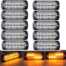 10x Янтарный/желтый мигающий стробоскопический светильник 12 Светодиодный Предупреждение предупреждающий полицейский светильник s Маяк предупреждение мигающий Предупреждение ющий светодиодный светильник s