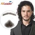 Alileader rendas barba para homem feito à mão real bigode de cabelo barba falsa para cavalheiros invisível barbas falsas
