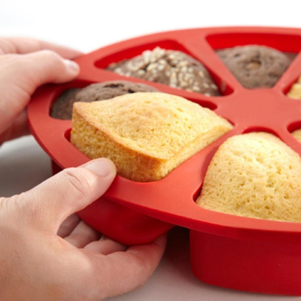 Bakeware 3D silikon kek kalıbı 8 puan Scone kek Pan pişirme kalıp jöle Cupcake kalıp mutfak Bakeware araçları # Y5