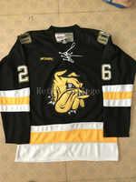 Minnesota Duluth Bulldogs hermantown Chad Huttel rückschritt Hockey Jersey Stickerei Genäht Fertigen jede nummer und name