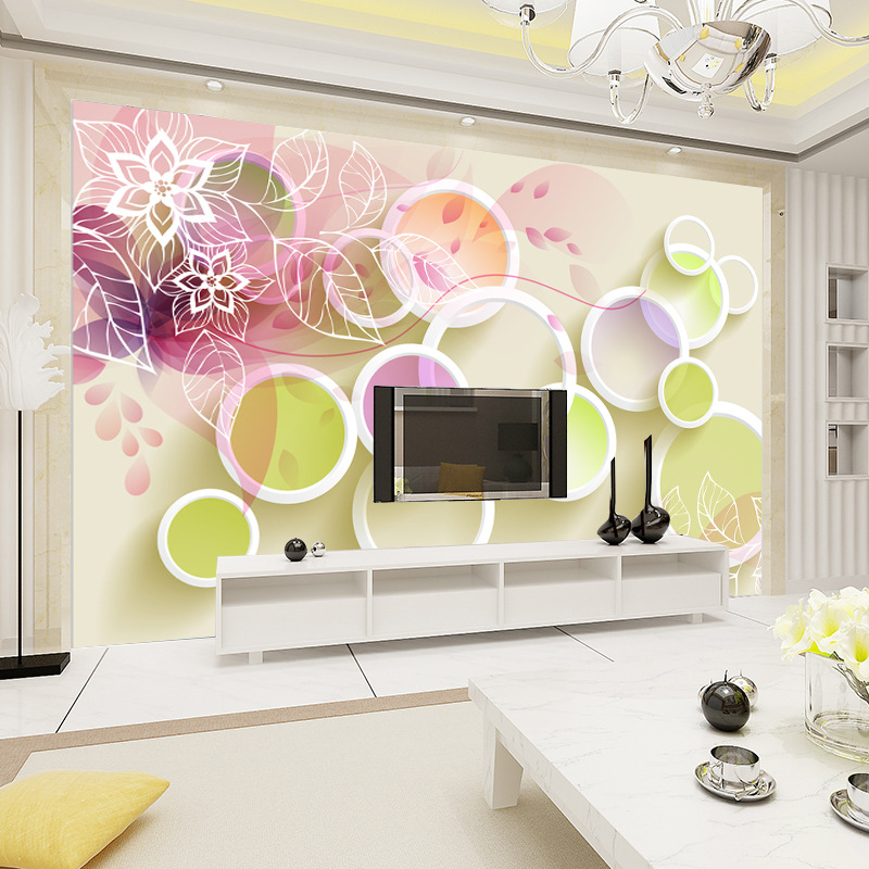 Customizable Seamless Mural Sofa Wall Living Room Wallpaper Bedroom Wall Cloth Large 3D