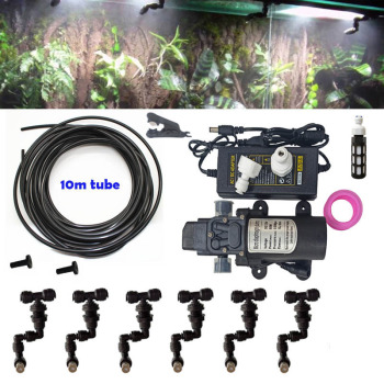 Tank Misting Reptiles Fogger Mist Sprinkler Rainforest Tank 360 Adjustable Aquarium Aquatic Pet 10M Cooling System 6 Nozzles