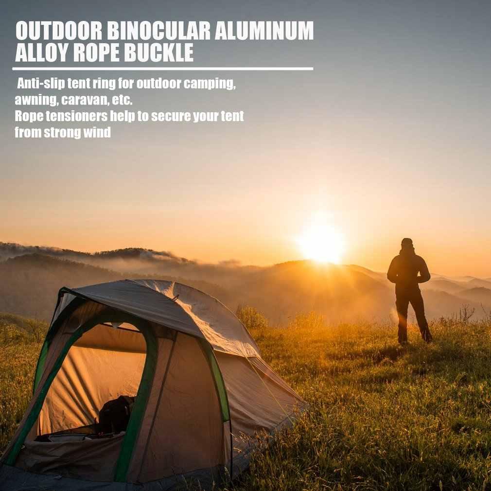 في الهواء الطلق خيمة 8 شكل حبل الفول السوداني سدادة سبائك الألومنيوم مشبك المظلة الحبل قفل الشد التخييم في الهواء الطلق