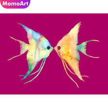 MomoArt Diamond Embroidery Animal Painting Full Square Drill Mosaic Picture Of Rhinestone Cross Stitch Home Decor