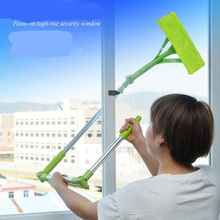 цена на Multifunctional Double-sided Window Cleaner Telescopic Window Cleaner with Auxiliary Lever Brush Glass Window Scraping Tool