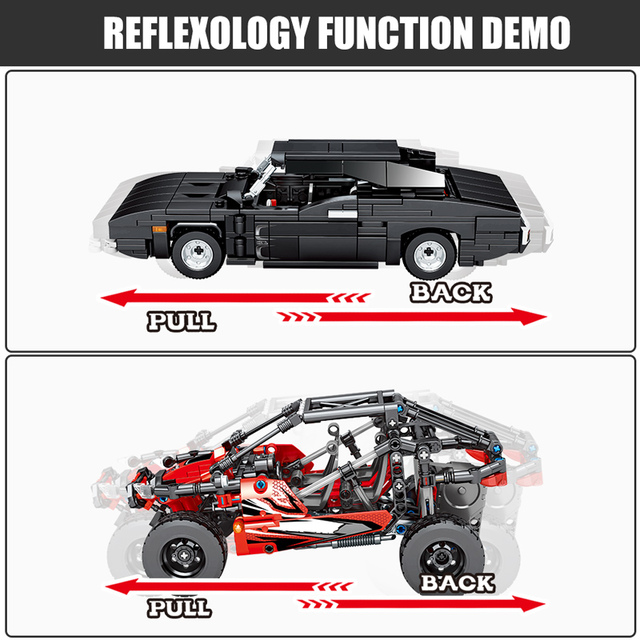 City Creator Diy Pull Back Speed Vehicle Bricks For Technic Beach Buggy Mechanical Car Building Blocks Toys For Children