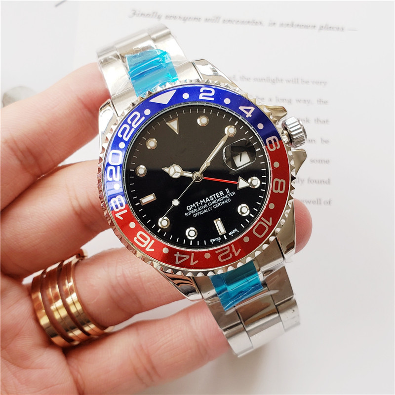 Luxury Luminous Sapphire Glass Ceramic Bezel GMT Automatic Mens Watch Aaa Brand Top Mechanical Watches