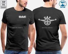 Крутая футболка с принтом грузовика daf lkw Мужская круглым