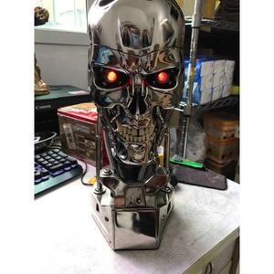 Image 1 - COOL! 1:1 Scale Terminator 39ซม.T 800กะโหลกศีรษะชิปElectroplateเรซินEditionมือชุดตกแต่งบทความ