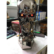 COOL! 1:1 Scale the terminator 39CM T 800 skull with chip standard electroplate resin edition of hand model furnishing articles