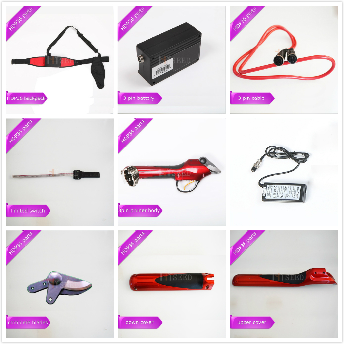 HDP36 Electric Pruner And Its Spare Parts, Spare Cable, Battery, Switch, Cover And Pruner Body