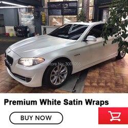 Премиум матовая белая атласная обертка fim виниловая Автомобильная оберточная виниловая пленка для high end 5 m/10 m/18 m